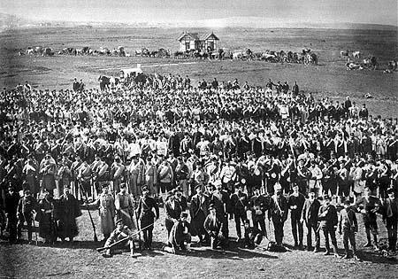 Първата чета доброволци, участници в Сръбско-българската война 1885.