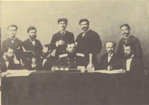 Първият-градски-съвет-в-Пловдив-с-председател-по-право-руският-офицер-В.-Хамилтон,-1878г