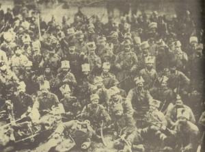 Сливенският-доброволчески-отряд-начело-с-войводата-Панайот-Хитов-на-път-за-турската-граница,-септември-1885г