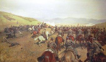 Преминаване на сръбско-българската граница худ. А. Пиотровски