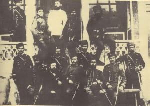 Участници-от-гр.Първомай-в-борбата-със-Сенклеровите-банди.-Правият-вдясно-е-опълченецът-Иван-Генчев
