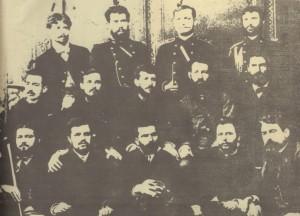 Членове-и-сътрудници-на-БТЦРК,-които-на-заседание-вземат-решение-за-издаване-на-вестник-Борба-като-орган-на-БТЦРК,-май-1885г