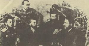 Членове-на-БТЦРК,-които-на-заседание-на-25-юли-(6-август)-1885-г.-вземат-решение-за-въстание