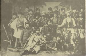 Щабът-на-партизанския-отряд-на-капитан-Коста-Паница,-участвувал-в-Сръбско-българската-война-1885г